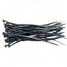 Set coliere din plastic Vorel 73893, 150X2.5mm, 100buc, negru