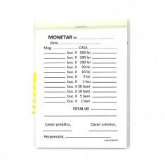 Monetar autocopiativ, format A6, orientare portret, 100 file