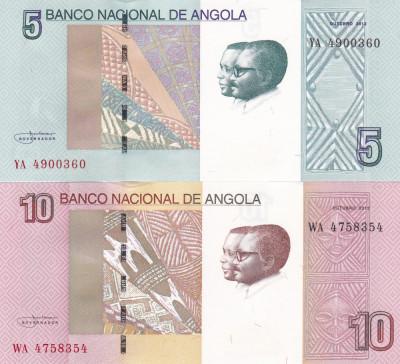 Angola Set 5,10 Kwanzas 2012 UNC foto