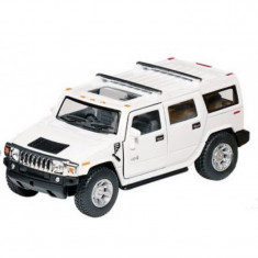 Masinuta Die Cast Hummer H2 SUV, 13 cm, 3 ani+, Alb