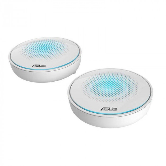 Router wireless Asus MAP-AC2200 Gigabit Lyra AC2200 Home WiFi Mesh System Tri-band 2 pack
