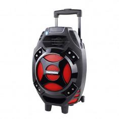 Boxa tip troler Temeisheng Q7S-16, 30 W, microfon wireless, telecomanda