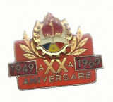 AMS* - INSIGNA pionier  A XX- A ANIVERSARE 1949-1969