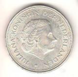 SV * Olanda  10 GULDEN 1970 * REGINA JULIANA - JUBILEUL DE ARGINT 1945       XF+, Europa