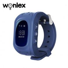 Ceas Smartwatch Pentru Copii Wonlex Q50 cu Functie Telefon, Localizare GPS, Pedometru, SOS - Albastru, Cartela SIM Cadou