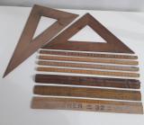 Rigle vechi din lemn