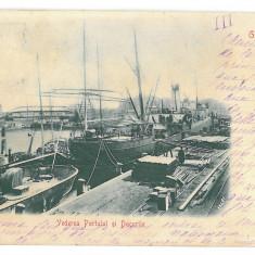 4403 - BRAILA, Harbor, Romania, Litho - old postcard - used - 1901, Circulata, Printata