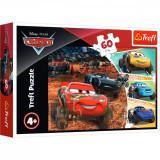 Puzzle Trefl 60 piese, Fulger McQueen si prietenii, Disney Cars 3