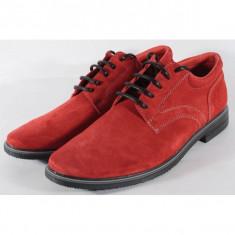 Pantofi rosii de barbati din velur (cod SPB01)