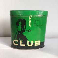 Cutie veche Tutun de pipa aromatizat CLUB Timisoara 1976, cu tutun