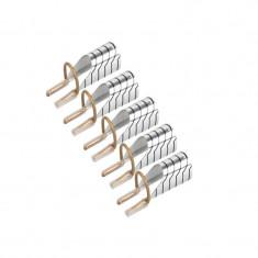 Set 5 sabloane refolosibile pentru unghii, argintiu