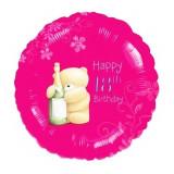 Balon folie 45cm 18th Happy Birthday, Amscan 21493