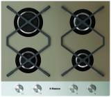 Plita incorporabila Gaz Hansa BHKB630500, 4 arzatoare, aprindere electrica, Culoare Bej