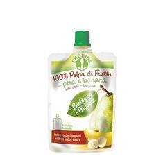 Piure Bio de Fructe fara Zahar - Pere si Banane Probios 100gr Cod: 8018699014101