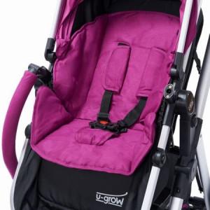 Carucior 2 in 1 U-Grow Baby Joy, reversibil, Violet
