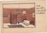 Carte postala circulata 1933 sok husveti locsolot kivanok Urari Paste Timisoara
