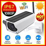 Camera Video Solara IP Wireless De Exterior HD Acumulatori Speaker Microfon, Card Memorie, CMOS