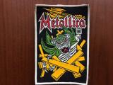 metallica ecuson patch cauciucat fan muzica heavy metal hard rock colectie hobby
