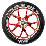 Roata trotineta Slamm V-Ten 110mm rosie + Abec 9