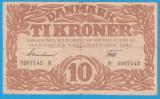 (1) BANCNOTA DANEMARCA - 10 KRONER 1942