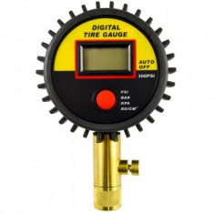 Manometru digital pentru verificat presiunea rotilor JBM 53418, domeniu 0-15 Bar