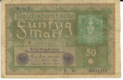 Bancnota 50 mark 1919 - Germania foto
