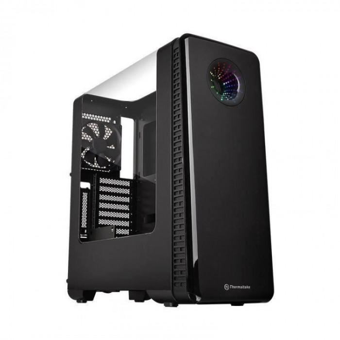 Carcasa desktop Thermaltake View 28 RGB , Middle Tower , Recomandat gaming , Panou lateral transparent
