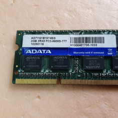M-114.Memorie Laptop ADATA Sodimm DDR3 2 GB 1066 Mhz PC3-8500 MHz