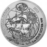 Moneda argint 999 lingou Corabia Victoria Rwanda 2019 1oz031 grame