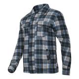 Jacheta Polar cu carouri captusita, 4 buzunare, mansete ajustabile cu nasturi, marime 3XL