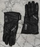 Manusi de piele cu tinte, chopper/moto/motor/biker/motociclist, marimea M,unisex, Negru