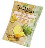 Bomboane Usor Picante cu Ananas si Curcuma Bio 75 grame Bio4You Cod: BFY701512