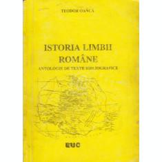 Istoria limbii romane. Antologie de texte bibliografice