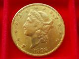 MONEDA AUR  20 dollars 1898  s  AUR - 900 - ( 21,6 K ), America Centrala si de Sud
