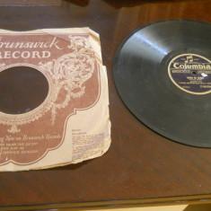 Placa patefon/gramofon Columbia- Tango ,in coperti Brunswick Record