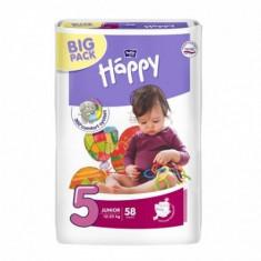 Scutece Happy Big Pack Junior Nr.5, 58 buc