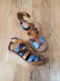 Superbe sandale dama noi piele naturala integral talpa ortopedica 37, Multicolor