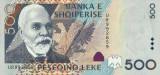 ALBANIA █ bancnota █ 500 Leke █ 2001 █ P-68 █ UNC █ necirculata