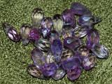 unic! ametiste naturale briolete multifatetate ideale pentru colier/cercei
