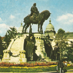 Romania, Cluj-Napoca, statuia lui Matei Corvin, carte postala ilustrata, necirc.