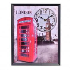 Ceas decorativ de perete, 40 x 30 cm, model London