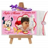 Marturii botez magneti Handmade by Diana Puiu Minnie Mouse MDFM 30