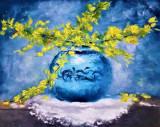 Vas cu flori galbene