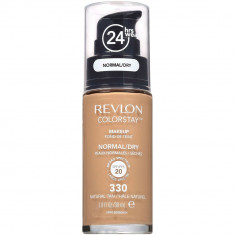 Fond De Ten Revlon Colorstay Normal Dry Skin Cu Pompita 330 Natural Tan 30ml