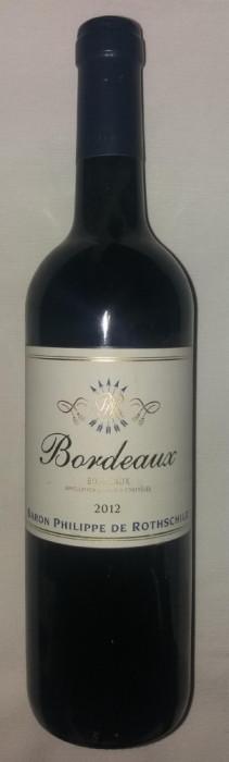 VIN DE BORDEAUX - BARON PHILIPPE DE ROTHSCHILD - 12,5% - 750 ML - 2012
