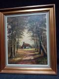 Ulei pe panza o lucrare veche semnata, Natura, Realism