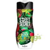 Sweet Secret Gel Hibrid de Baie si Dus cu 1/4 Crema Nutritiva cu Ciocolata, Chilli, Zmeura si Lime 300ml