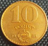 Moneda 10 FORINTI - UNGARIA, anul 1989 *cod 852, Europa