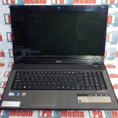 Laptop Acer 7741ZG Intel P6100 2.0 GHz 4GB DDR3 HDD 160GB DVD-RW 17,3 inch, Intel Pentium, 4 GB, 160 GB
