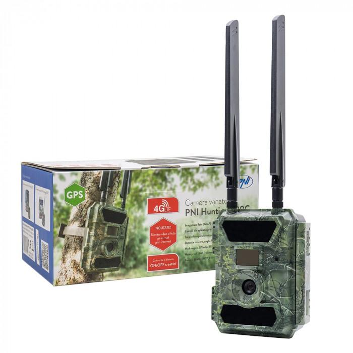 Resigilat : Camera vanatoare PNI Hunting 400C 12MP cu 4G LTE, GPS, transmite Video